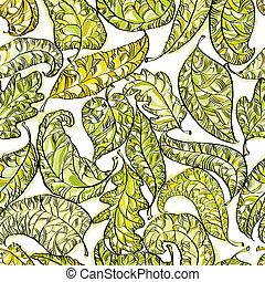 Spring leaves seamless pattern.