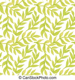 Spring leaves seamless watercolor pattern-model for design of gift packs, patterns fabric, wallpaper, web sites, etc.