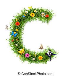 "Spring letter ""C"""