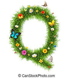 """Spring letter """"Q"""""""