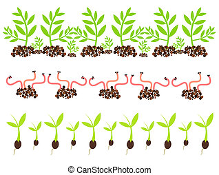 Spring motives - Spring gardening motives - worms and ...
