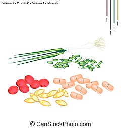 Spring Onion with Vitamin K, C, A and Minerals