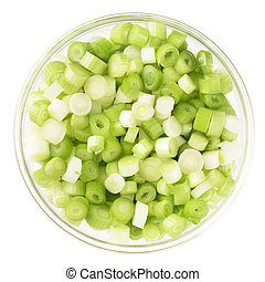 Spring Onions Isolated