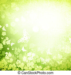 Spring or summer green grunge background