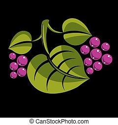 Spring or summer leaf simple vector icon, nature and...