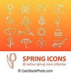 spring outline icons