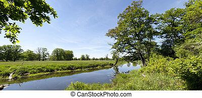 spring panoramic landscape
