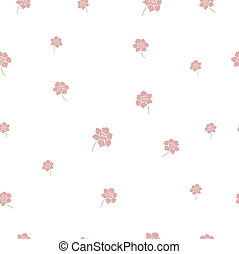 Spring pink floral seamless backgro