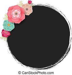 Spring Poster With Flowers White background