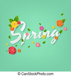Spring Poster With Text
