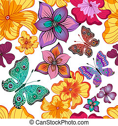 Spring repeating floral pattern