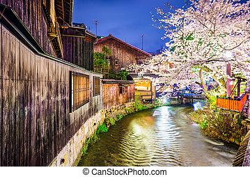 Spring River in Kyoto