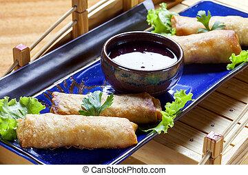 Spring roll Japanese cuisine