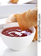 Spring Rolls and Sauce