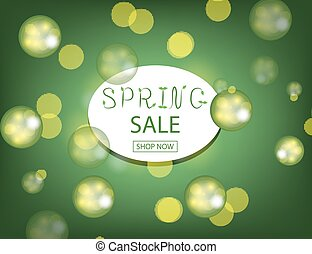 Spring Sale Background with sparkling drops for your design.