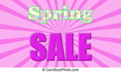 Spring Sale Banner - Banner on the special offers for the ...