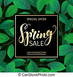 Eps vector of spring holidays floral welcome banner template spring sale banner template pronofoot35fo Image collections