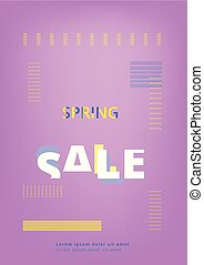 Spring Sale banner. Vector illustration.