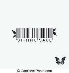 Spring Sale Bar code Design Background