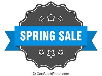 spring sale blue label. spring sale isolated seal. spring sale