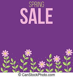 Spring sale flowers banner
