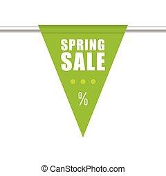 spring sale green design illustration