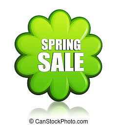 spring sale green flower label