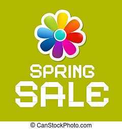 Spring Sale Green Vector Background