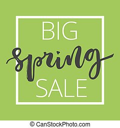 Spring sale hand written inscription
