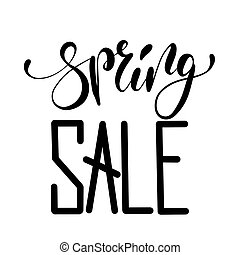 Spring sale handwritten lettering design.