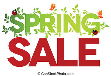 Spring sale isolated - Spring sale design Beautiful colorful...