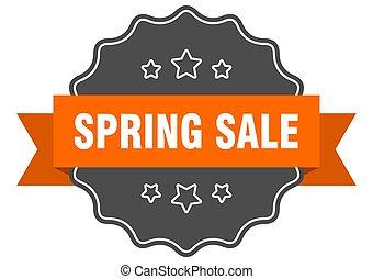spring sale isolated seal. spring sale orange label. spring sale
