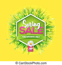 Spring sale label