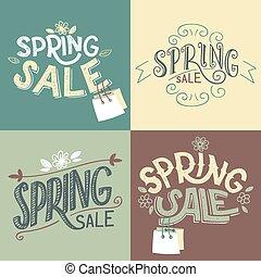 Spring Sale Labels Set
