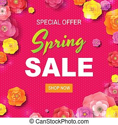 Spring Sale Poster With Text
