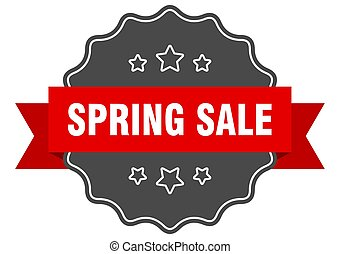 spring sale red label. spring sale isolated seal. spring sale