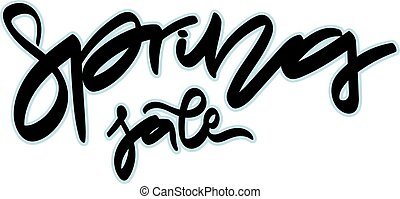 Spring sale. Sale Hand lettering Design.
