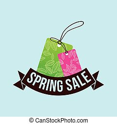 spring sale tag price shopping concept