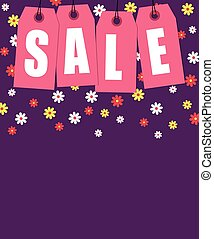 Spring sale tags banner design