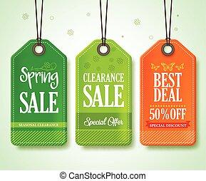 Spring Sale Tags Set for Seasonal