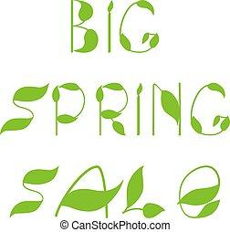Spring sale text design template