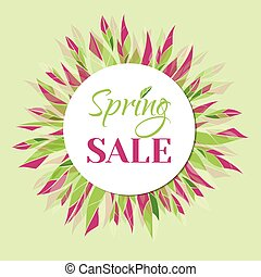 Spring sale vector banner