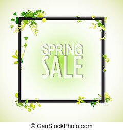 Spring sale watercolor banner