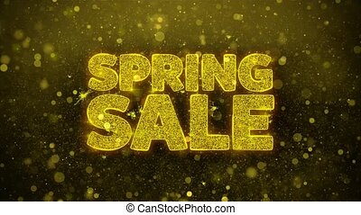 Spring Sale Wishes Greetings card, Invitation, Celebration Firework