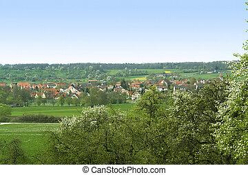 spring scenery in Hohenlohe