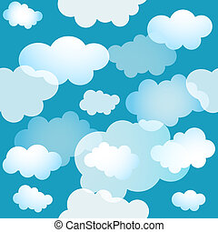 Spring seamless blue background (vector)