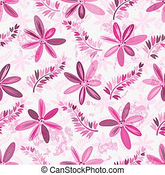 Spring seamless grunge pattern with rose flowers