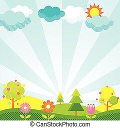 Spring Season Icons Background