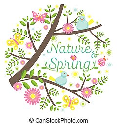 Spring Season Icons Heading