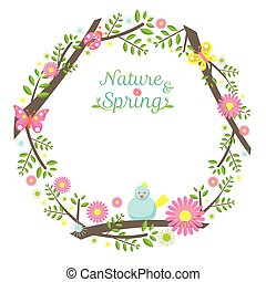 Spring Season Icons Wreath